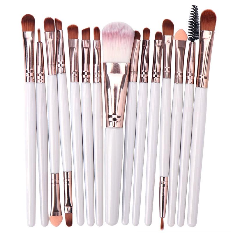 15PCs Makeup Brush Set Cosmetict Makeup For Face Make Up Tools Women Beauty  Professional Foundation Blush Eyeshadow Consealer 4