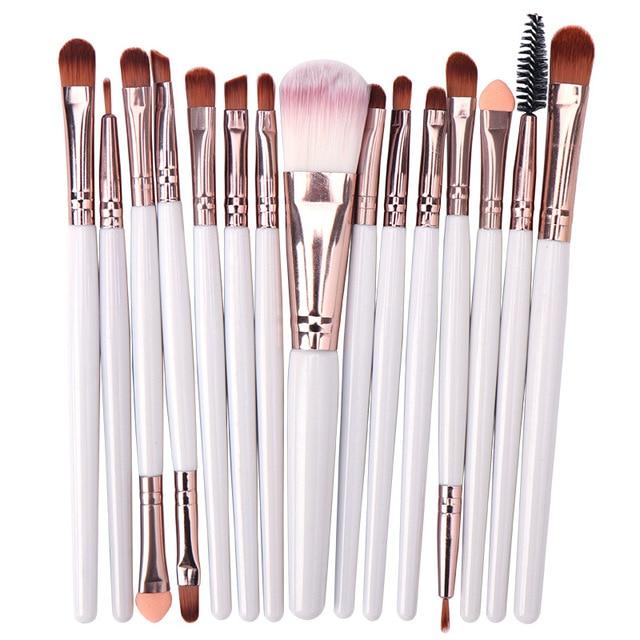 15PCs Makeup Brush Set Cosmetict Makeup For Face Make Up Tools Women Beauty  Professional Foundation Blush Eyeshadow Consealer 3