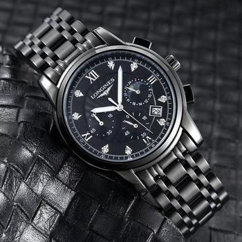 Brand Fashion Classic Quartz Mens Watch 2020 Chronograph Rubber Belt Date Wristwatch Rose Gold Metal Watch Men   1055