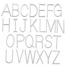 Stainless Steel Thin Big English Letters Alphabet Pendant Two Holes Charm for Necklace Bracelet DIY Jewelry Accessories 10pcs(China)