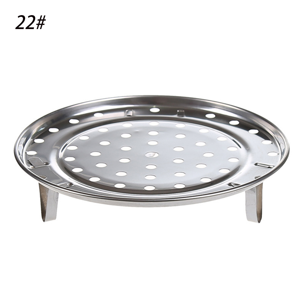 Durable Three Legged Steaming Stand Cooking Tool Round Stainless Steel 3 Types Steamer Rack Kitchen Supplies