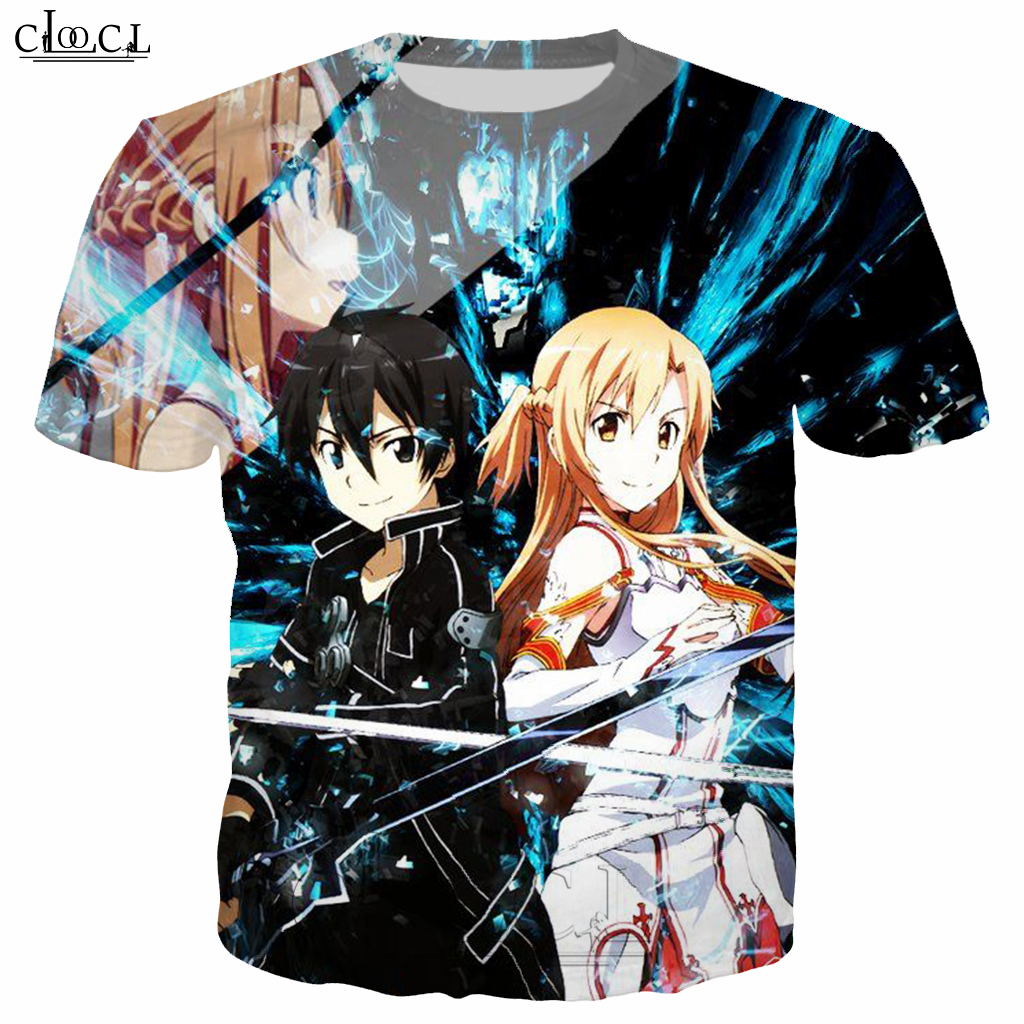 Japanese Anime Sword Art Online T Shirt Men/Women 3D Print Fashion Men's Clothing T Shirt Tracksuit Casual Streetwear Tops B124 1