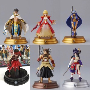 Image 2 - 6pcs/set 10CM Fate Grand Order Fourth Bomb Saber Lancer Archer Assassin Ramesses Nitocris Ushiwakamaru PVC Action Figure Toys