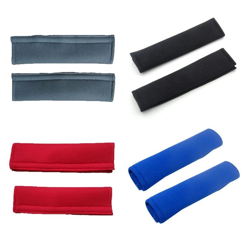 2 Pcs/Set Child Car Seatbelt Plush Cover Seat Belt Shoulder Strap Protective