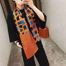 2019 New Design Luxury Brand women silk scarf Double-deck Twill Scarf