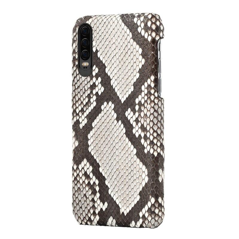 Couverture arrière en peau de Python en cuir véritable de luxe pour Huawei P10 Plus coque fabriquée à la main en peau naturelle pour P30 P20 Pro Lite