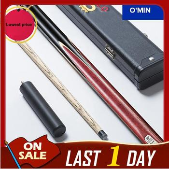 O'min 3/4 Snooker Cues Joints Sticks 11.5mm Tips With Snooker Cue Case Set Professional Handmade Billiard Stick Kit