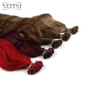 """Image 5 - Neitsi makinesi Remy insan füzyon saç U tırnak ucu doğal dalga hazırlık Bond Keratin doğal gerçek saç ekleme 20 """"1 g/s 18 renk"""