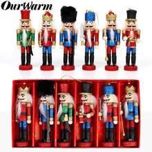 OurWarm 6 шт многоцветные рождественские деревянные Щелкунчики миниатюрный Декор деревянные ремесленные Деревянные Щелкунчики для украшения рождественской елки