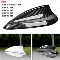 Car Carbon Fiber Shark Fin Antenna Cover Trim For BMW F20 F21 F45 F46 E84 F48 F49 F26 X5 F15 X6 F16 Antenna Cover