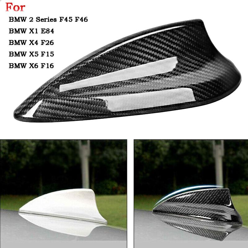 Карбон волокно антенна Акулий Плавник Накладка для BMW F20 F21 F45 F46 E84 F48 F49 F26 X5 F15 X6 F16 антенна крышка