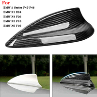 Car Carbon Fiber Shark Fin Antenna Cover Trim For BMW F20 F21 F45 F46 E84 F48 F49 F26 X5 F15 X6 F16 Antenna Cover