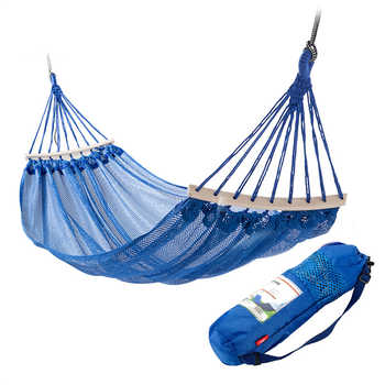 Portable Camping/Garden Hammock 1-2 Person Travel Lightweight Hanging Chair with Storage Bag Parachute Fabric Outdoor Furniture - DISCOUNT ITEM  51 OFF Furniture