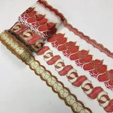 30yards Dentelle Ruban D'habillage Tissu Dubaï Collier Guipure Décor Africaine Garniture Garnitures Tissu Pour Femme Accessoires En Tissu