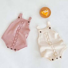 Bodysuits Sweaters Knitted Toddler Newborn-Baby Girls Infant Boys Sleeveless Autumn Candy-Color