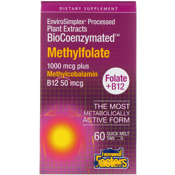 BioCoenzymated, Folic Acid B12, Methyl Folate, 60 Instant Tab
