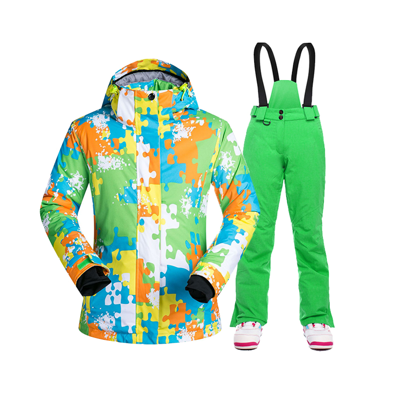 SAENSHING Ski Suit Women Winter Ski Jacket Snowboarding Trousers Female Snow Suits Waterproof Winderproof Snow Skiing Set