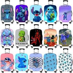 Эластичный Защитный чехол для багажа, защитный чехол для чемодана, чехлы на колесиках, Чехлы, 3D аксессуары для путешествий, Стич узор T26
