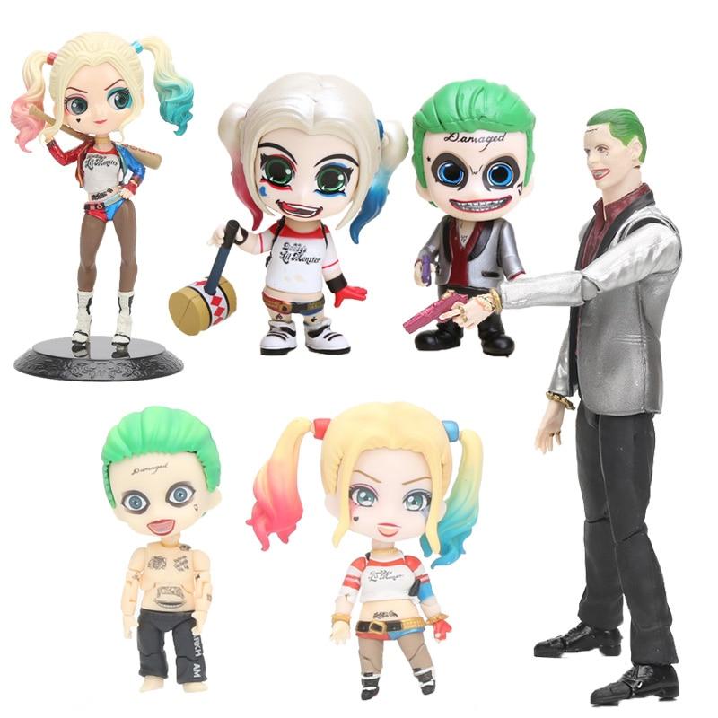 Nendoroid Suicide Squad Figure Toy Q Posket Harley Quinn The Joker Joint Movable Joker 671# Harley Quinn 672 # PVC Figure Toy