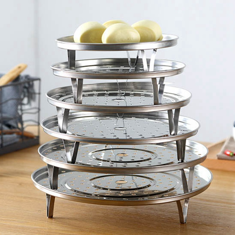 Kitchen Cookware Non-magnetic Thicken Steam Rack Stainless Steel Steam Rack Bracket Removable Household Steam Rack