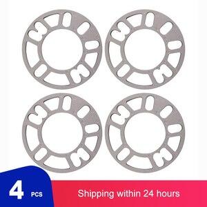 4Pcs/Set 3/5/8/10mm Car Wheel Spacers Shims Plate Alloy Aluminum 4 5 Stud For 4x100 4x114.3 5x100 5x108 5x114.3 5x120 car rims