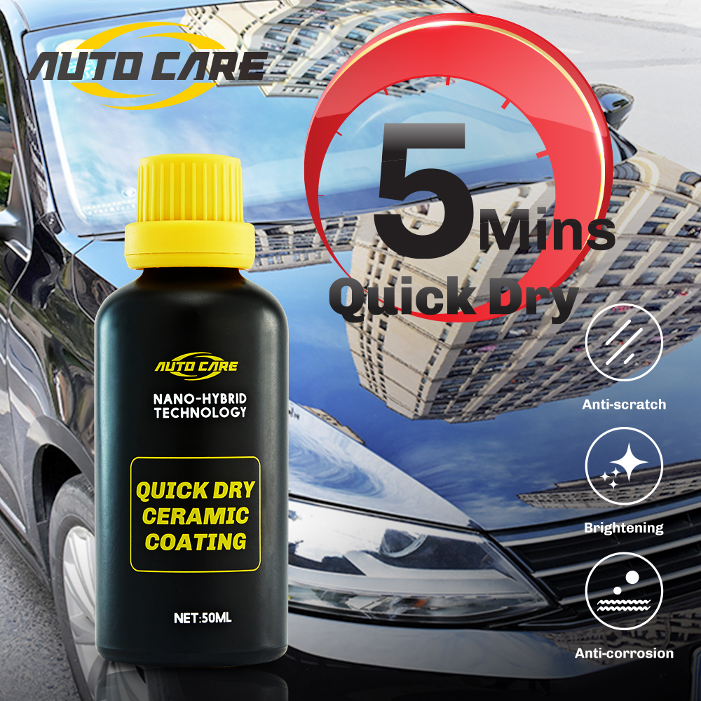 Quick Dry Nano Ceramic Car Coating 5 Mins Paint Care Hydrophobic Coating Waterproof High Gloss Shine Anti Scratch Polish Wax
