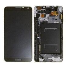 N9005 LCD لسامسونج نوت 3 lcd تعمل باللمس محول الأرقام استبدال أجزاء N9005 عرض لمجرة نوت 3 lcd زر الإطار
