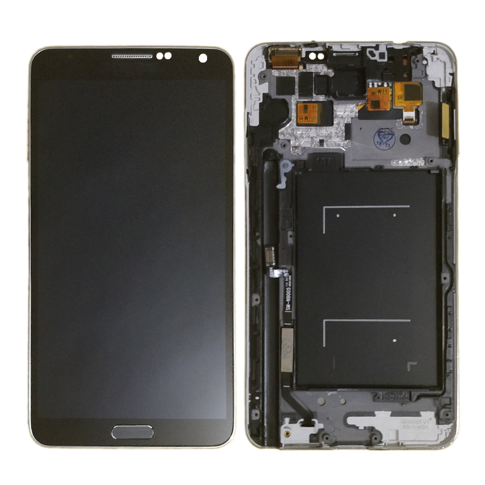 N9005 LCD For SAMSUNG Note 3 lcd Touch Screen Digitizer Replacement Parts N9005 display for Galaxy note 3 lcd Frame button