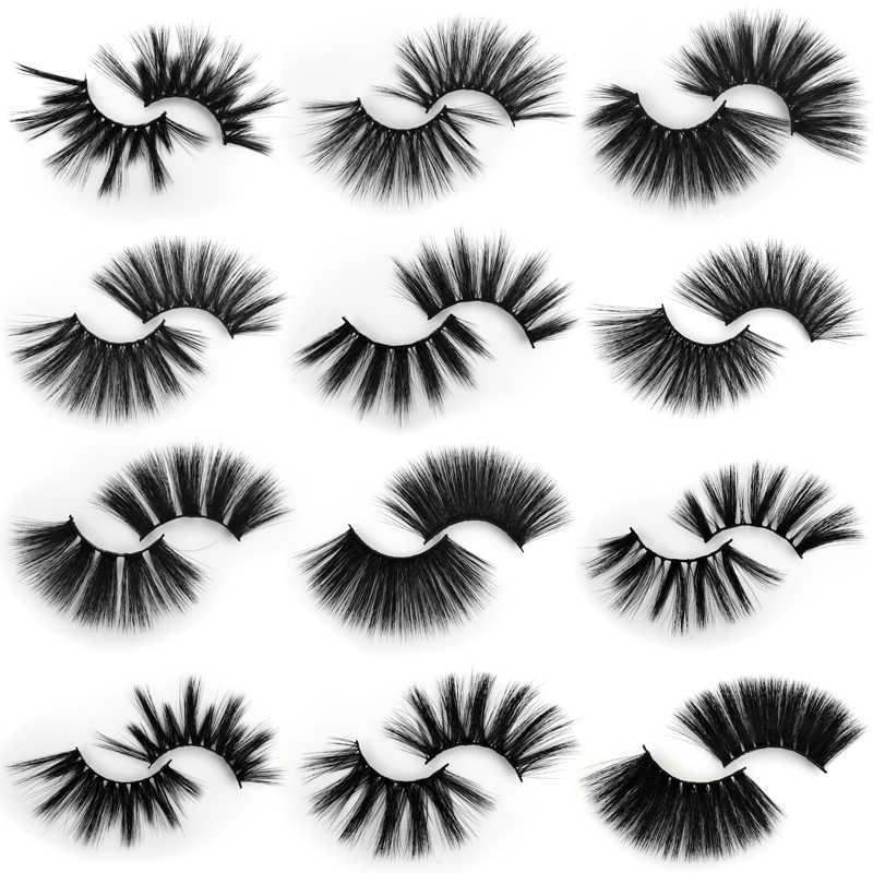 SHIDISHANGPIN 1 пара 25 мм норковые лахсы пушистые тонкие 3d накладные ресницы макияж ручной работы Мягкие Длинные Накладные ресницы для наращивания
