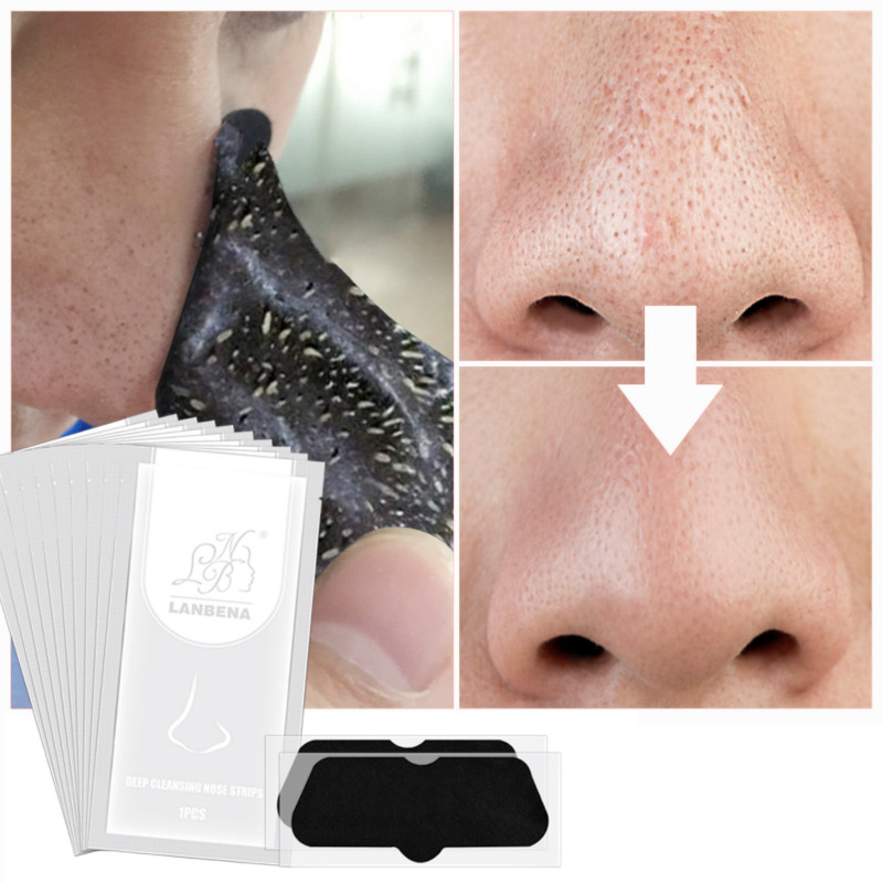 10/1Pcs Blackhead Cleansing Nose Facial Face Mask Nose  Peel Off  Purifying  Peel Face Mask Remove Activated Carbon Nose Sticker