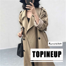 British Style Double Breasted Maxi Trench Coat for Women 2019 New Hot Trend Female Autumn Winter Loose  Outwear Windbreaker vintage british detective cat women neko paw print tie double breasted brown cape cloak cute preppy style lolita outwear winter
