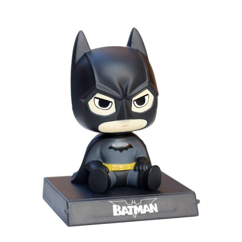 D/écorez de Voiture Batman Super Man Groot Ornement Voiture secouant la t/ête d/écorations int/érieur Voiture poup/ée Accessoires Voiture Support de t/él/éphone Jouets Nouveaux Cadeaux ann/ée d/écorez Vo