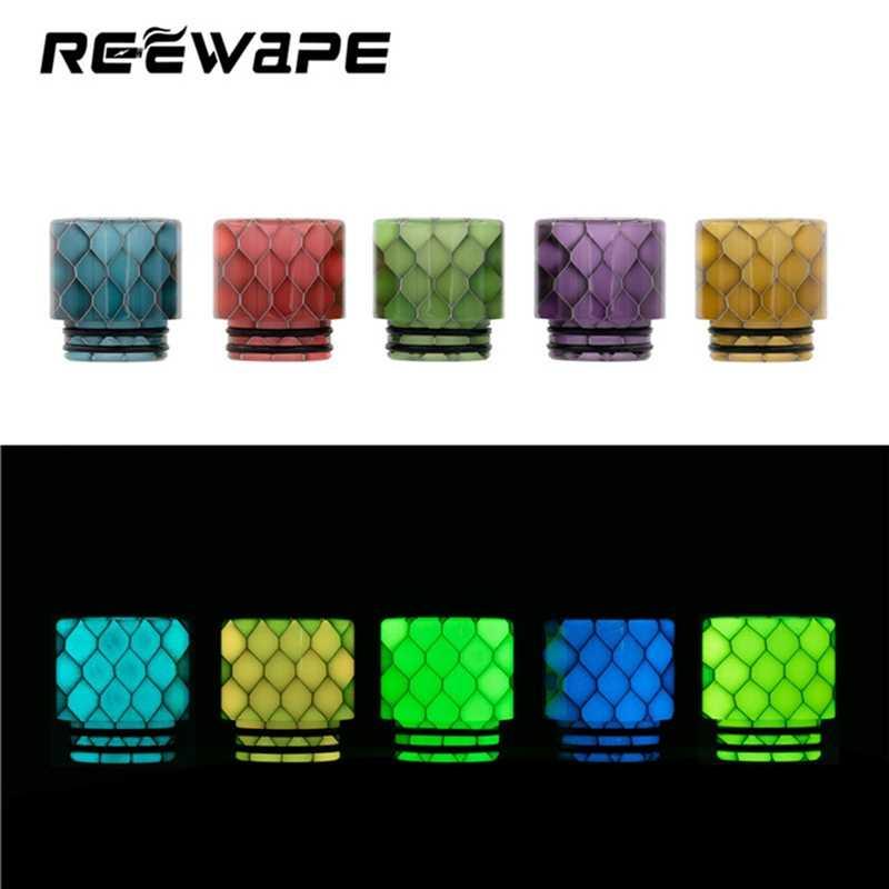 Draad Epoxy Wide Bore Kleurrijke Cobra Snake Skin Lichtgevende 810 Drip Tip Hars Mondstuk Nachtlampje