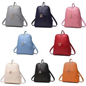 Image 5 - NEVENKA Women กระเป๋าเป้สะพายหลังหนังกระเป๋าเป้สะพายหลัง Softback กระเป๋ายี่ห้อชื่อกระเป๋า Preppy สไตล์ลำลองกระเป๋า pack วัยรุ่นกระเป๋าเป้สะพายหลัง Sac