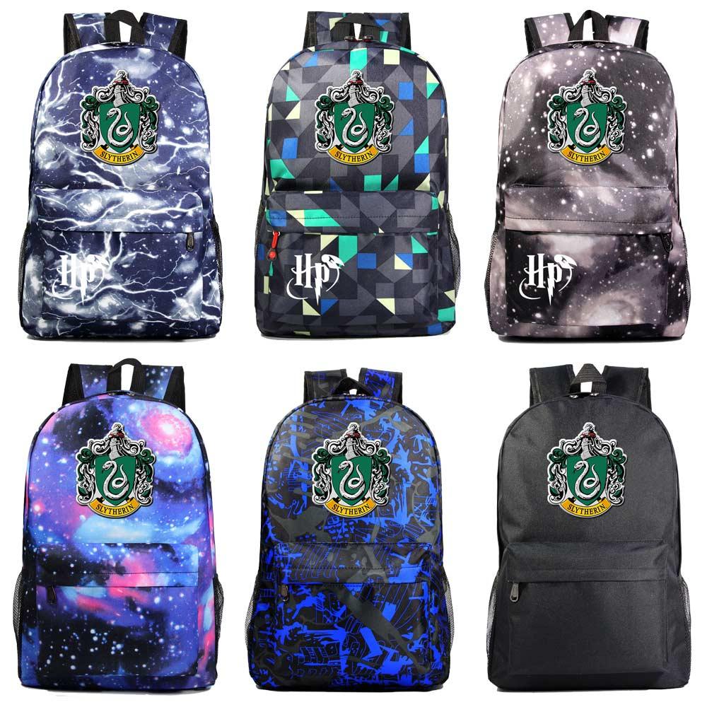Fashion Cartoon Snake Hogwarts Magic School Boy Girl Book School Bag Women Bagpack Teenagers Schoolbags Men Student Backpack