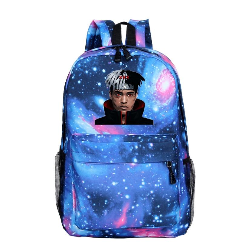 XXXTentacion Daily Backpack School Bags For Teenage Backpack Naruto Anime Prints Galaxy Bagpacks Girls Boy Bookbag Travel Bag