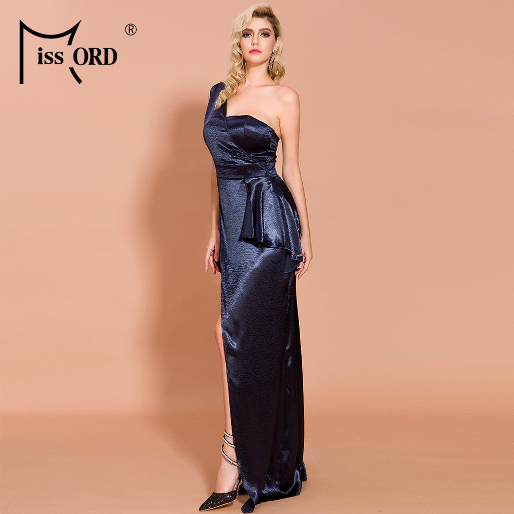 Winter Off Shoulder Backless Satin Dresses  1