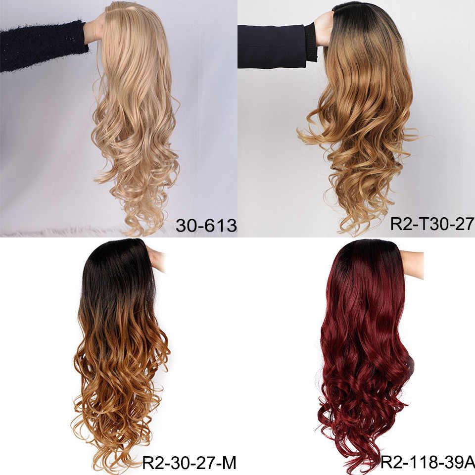 باروكة نسائية طويلة مموجة من Aisibeauty باروكة شعر أشقر/رمادي/أحمر باروكات كوسبلاي باروكات صناعية عالية الحرارة لشعر أمريكي أفريقي