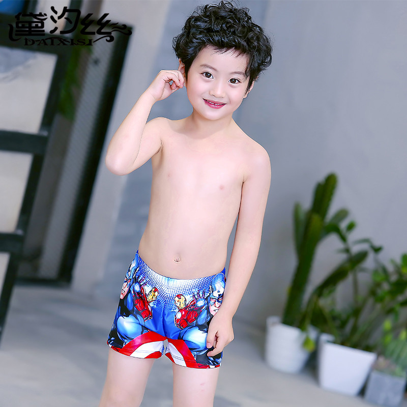 KID'S Swimwear MEN'S Boxers Cute Cartoon Children Swimming Trunks Boy Baby Bathing Suit Men's Swimming Equipment