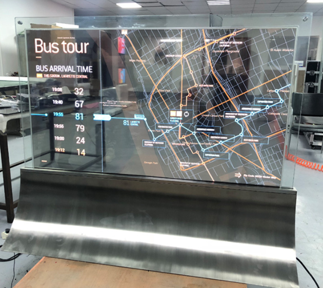 55'' Inch Display Shopping Mall Store Advertising  Transparent OLED Digital Signage