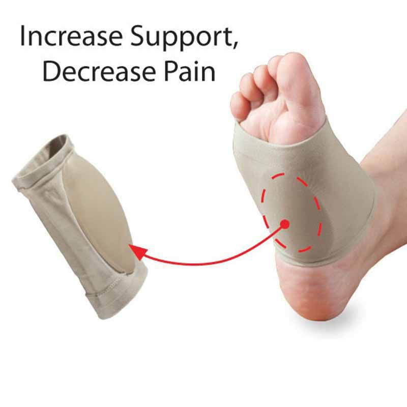 1 Pair Silicon Flatfoot Cushion Correction Orthopedic Bandage Support Arch Plantar Fasciitis Insoles Foot Care Tool