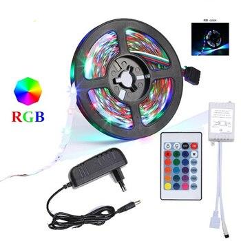 RGB LED Strip 5050 DC 12V 5m 10m 15m 20M Bluetooth Flexible Diode Tape Ribbon Fita Tira LED Light Strips With Remote + Adapter f