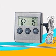 Digital medidor de temperatura termômetro carne para grelhar alimentos cozinhar com temporizador de cozinha inteligente para churrasco grill carne alimentos cozinhar