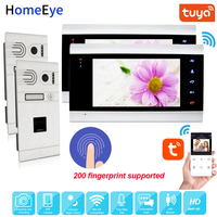 960P Fingerprint WiFi Video Door Phone IP Video Intercom System TuyaSmart App Supported 2 2 Home Access Control Motion Detection