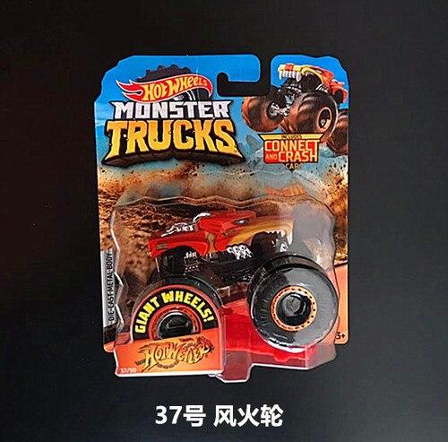 1: 64 оригинальные горячие колеса гигантские колеса Crazy Barbarism Монстр металлическая модель грузовика игрушки Hotwheels большая ножная машина детский подарок на день рождения - Цвет: 37
