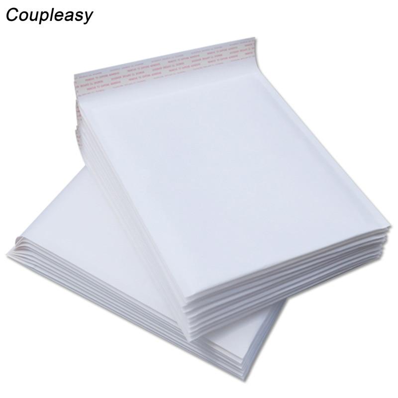 Image 2 - 100pcs Wholesale White Bubble Envelope Waterproof Bubble Film Bag Kraft Paper Envelope Padded Mailers Shipping Courier Bag 6sizePaper Envelopes   -
