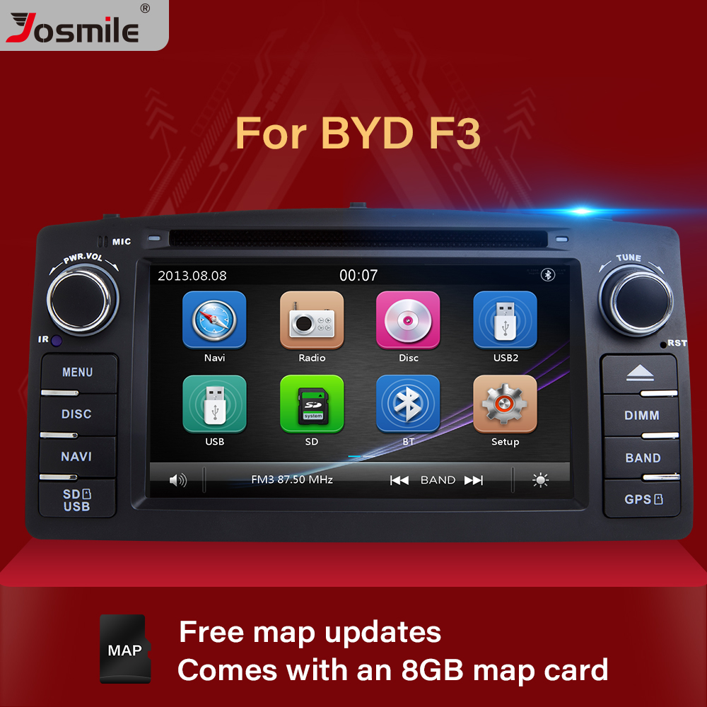 Josmile 2 Din Car DVD Player For Toyota <font><b>Corolla</b></font> <font><b>E120</b></font> BYD F3 2000 2005 2006 Radio Multimedia Head Unit Stereo GPSNavigation Audio image