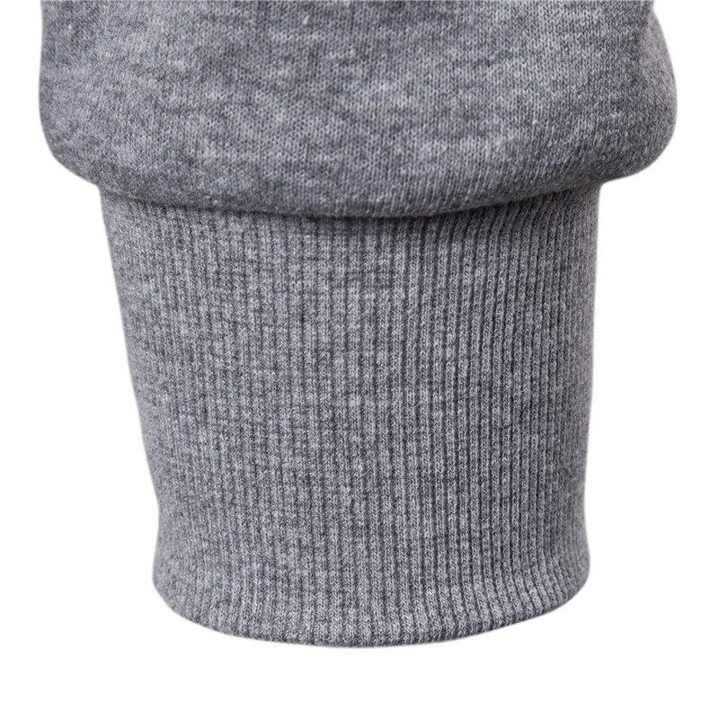 2019 New Autumn Winter Cotton Hoodied Mens Sweatshirts Solid Hoody Fleece Thick Hoodies Men Sportswear Zipper Sweatshirts Men 6