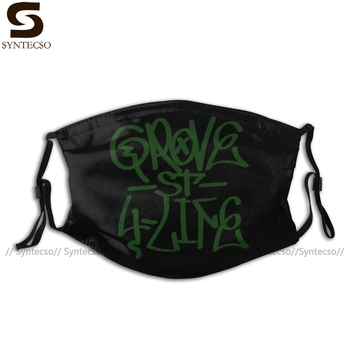 Gta San Andreas Mouth Face Mask Grove Facial Funny Kawai with 2 Filters for Adult