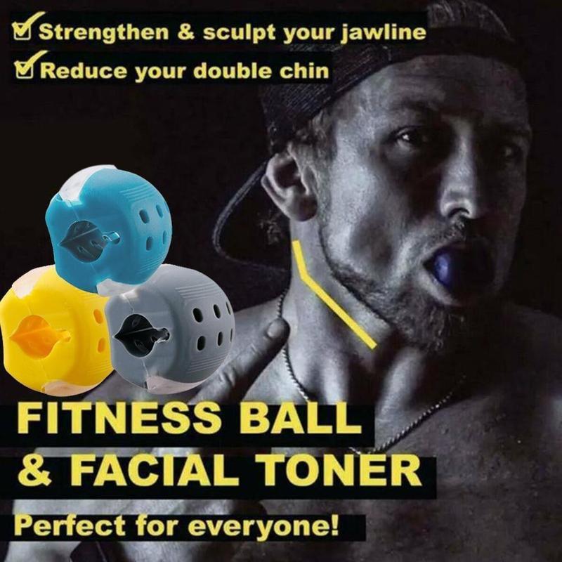 1 шт. челюсти тренер для подтяжки лица для наружных осветительных приборов мышцы лица и жевательные устройство маска для лица и шеи с мяч для...